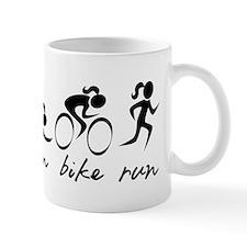 Swim Bike Run (Girl) Mugs