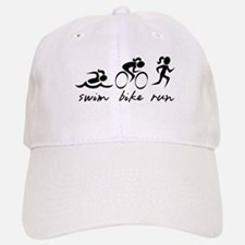 Swim Bike Run (Girl) Baseball Baseball Cap