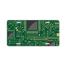 Motherboard 2 Aluminum License Plate