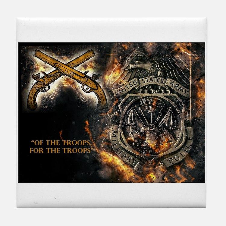 Cute Military police Tile Coaster
