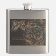 Cute Military police Flask