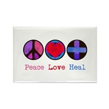 Cute Peace love massage Rectangle Magnet (10 pack)