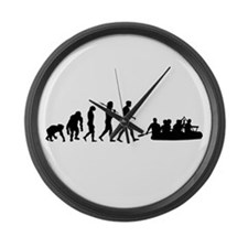 Whitewater River Rafting Large Wall Clock