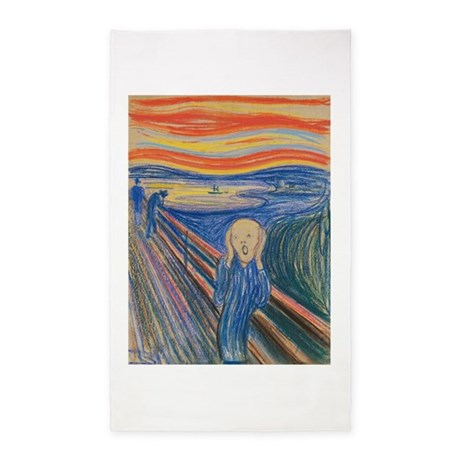 The Scream Area Rug