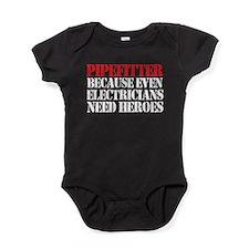 Pipefitter Electrician Heroes Baby Bodysuit