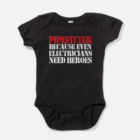 Pipefitter Electrician Heroes Baby Bodysuit