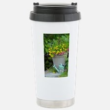Spring flowers and wate Stainless Steel Travel Mug