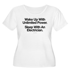 Sleep With An Electrician Plus Size T-Shirt