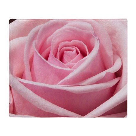 light pink rose close up throw blanket by listing store 74656649. Black Bedroom Furniture Sets. Home Design Ideas