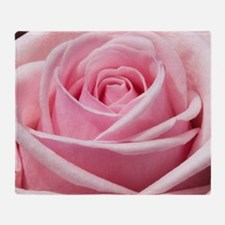 Light Pink Rose Close Up Throw Blanket