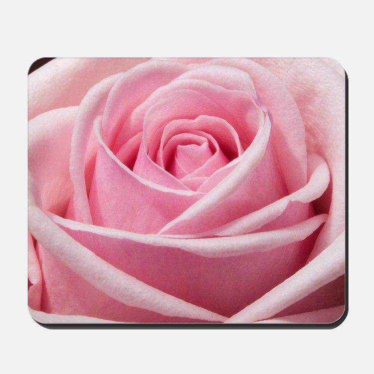 Light Pink Rose Close Up Mousepad