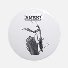 A Praying Mantis Praying Ornament (Round)