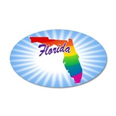 Rainbow State Wall Decal Sticker