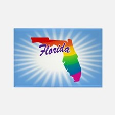 Rainbow State Rectangle Magnet