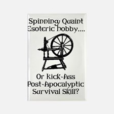 Spinning Wheel Survival Rectangle Magnet