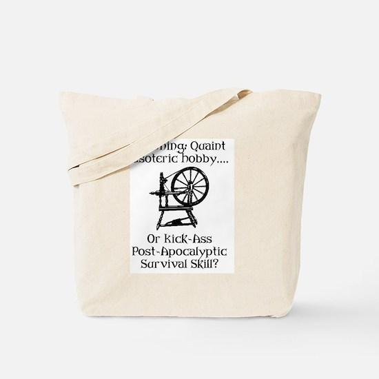 Spinning Wheel Survival Tote Bag