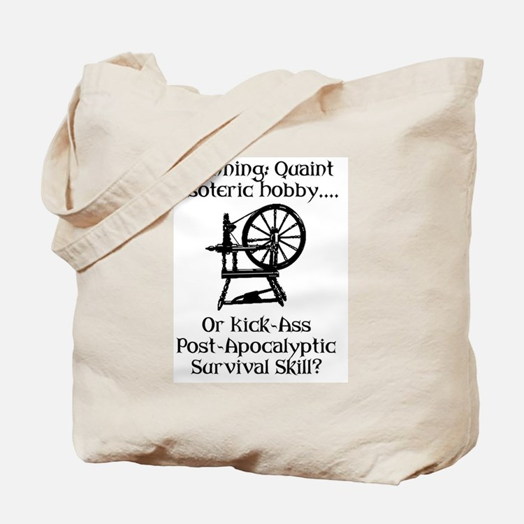 Spinning Wheel Survival Tote Bag