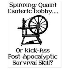 Spinning Wheel Survival Framed Print