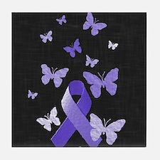Purple Awareness Ribbon Tile Coaster
