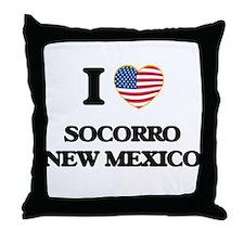 I love Socorro New Mexico Throw Pillow