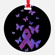 Purple Awareness Ribbon Ornament