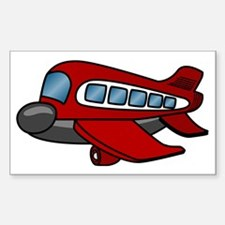 Airplane Sticker (Rectangle)