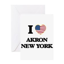 I love Akron New York Greeting Cards