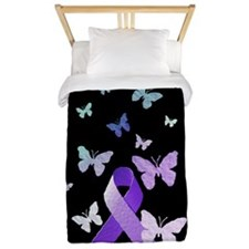 Purple Awareness Ribbon Twin Duvet