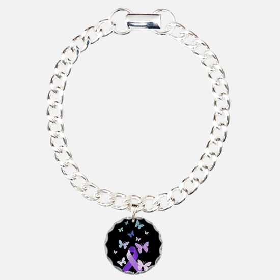 Purple Awareness Ribbon Bracelet