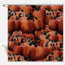 Fall Pumpkin Pile Shower Curtain