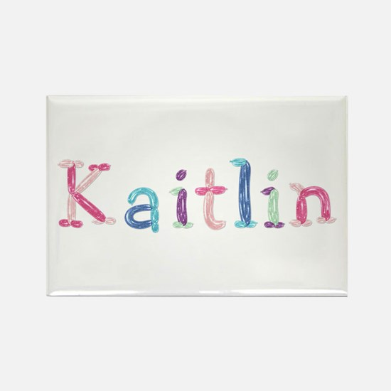 Kaitlin Princess Balloons Rectangle Magnet