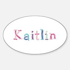 Kaitlin Princess Balloons Oval Decal
