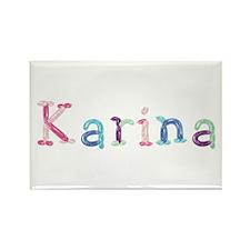 Karina Princess Balloons Rectangle Magnet