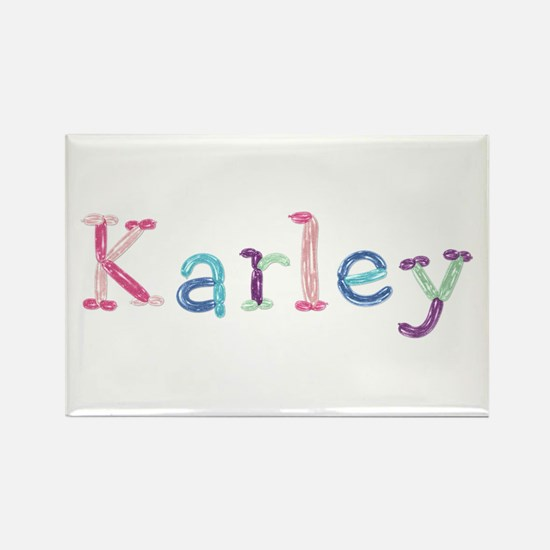Karley Princess Balloons Rectangle Magnet