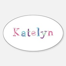 Katelyn Princess Balloons Oval Decal