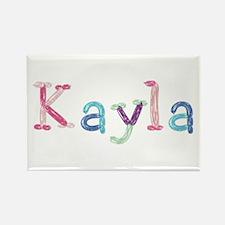 Kayla Princess Balloons Rectangle Magnet