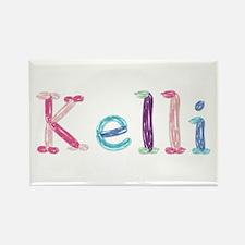 Kelli Princess Balloons Rectangle Magnet