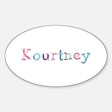 Kourtney Princess Balloons Oval Decal