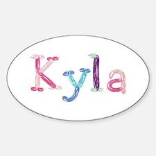 Kyla Princess Balloons Oval Decal