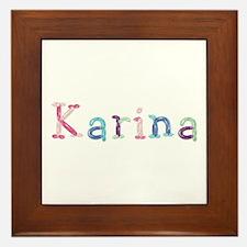 Karina Princess Balloons Framed Tile