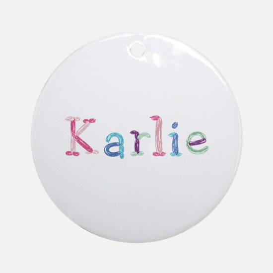 Karlie Princess Balloons Round Ornament