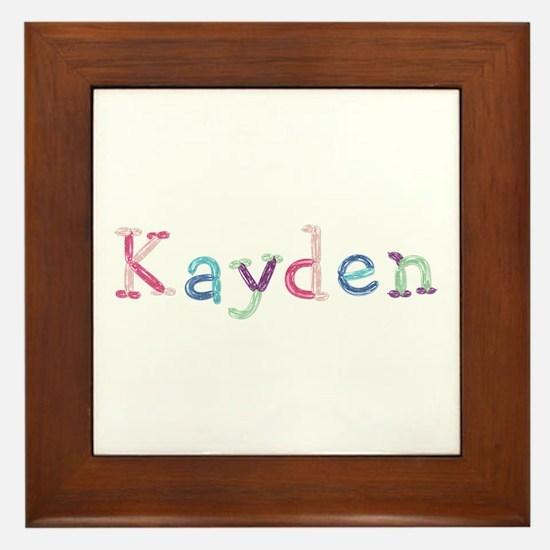 Kayden Princess Balloons Framed Tile
