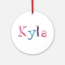 Kyla Princess Balloons Round Ornament