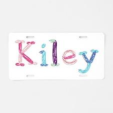 Kiley Princess Balloons Aluminum License Plate