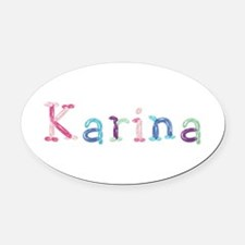Karina Princess Balloons Oval Car Magnet