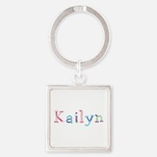 Kailyn Princess Balloons Square Keychain