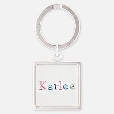 Karlee Princess Balloons Square Keychain