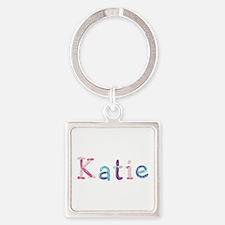 Katie Princess Balloons Square Keychain