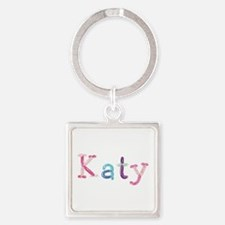 Katy Princess Balloons Square Keychain