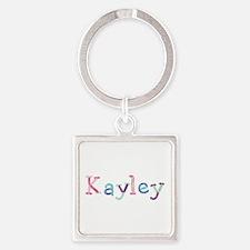 Kayley Princess Balloons Square Keychain
